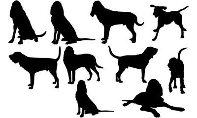 Bloodhound Dog svg files cricut,  silhouette clip art, Vector illustration eps, Black  overlay
