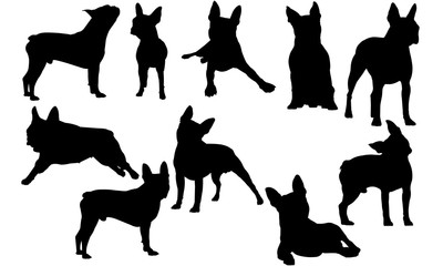 Boston Terrier Dog svg files cricut,  silhouette clip art, Vector illustration eps, Black  overlay