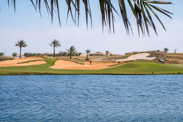 Golf Course at Saadiyat Island, Abu Dhabi, UAE