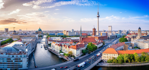 Photo sur Aluminium Berlin panoramic view at the berlin city center