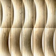 Decorative wavy pattern - seamless background - wooden texture