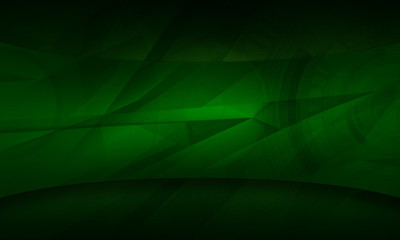 Abstract futuristic dark green color digital technology background illustration Wall mural