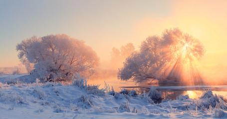Winter christmas morning