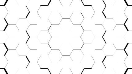 Abstract white hexagon geometric surface