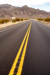 highway 160 through Mojave desert town of Pahrump, Nevada, USA