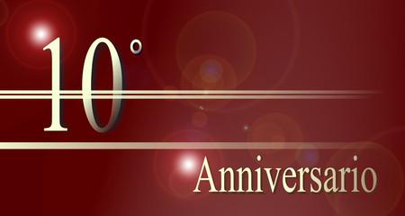 10 Anniversario, matrimonio, compleanno, attività.