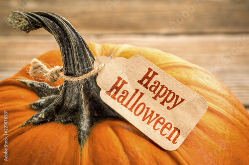 Happy Halloween - pumpkin with price tag