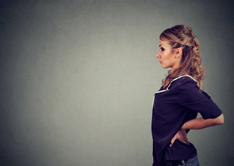 Confident young woman in profile