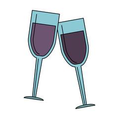 Wine cups symbol