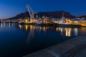 Victoria and Alfred Harbour sunrise, Cape Town