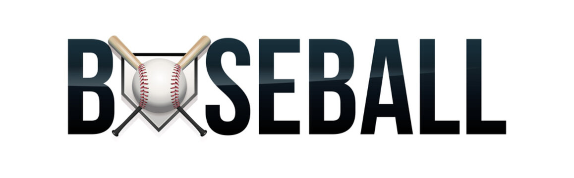 Baseball Word Art Illustration