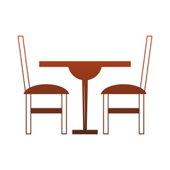 dinning wooden table and chairs red lines