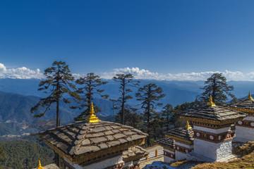 108 Memorial Chortens of Dochula Pass in Thimphu, Bhutan