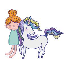 boy hugging beauty unicorn hairstyle