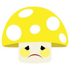 Ilustração de um cogumelo com cara