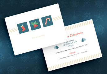 Holiday Invitation Layout