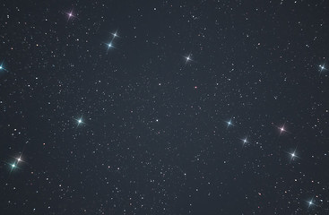 photo of the starry sky made through a telescope. Bright colorful stars in the infinite space of our universe