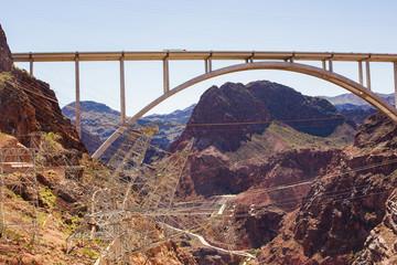 Papiers peints Route 66 Famous Hoover Damn Bridge. USA, Nevada-Arizona