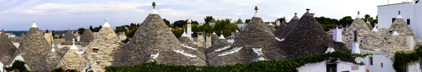 Trulli of Alberobello, a small town in Apulia, Italy. The Trulli of Alberobello have are a UNESCO World Heritage site since 1996
