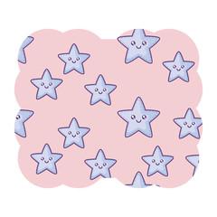 kawaii stars pattern