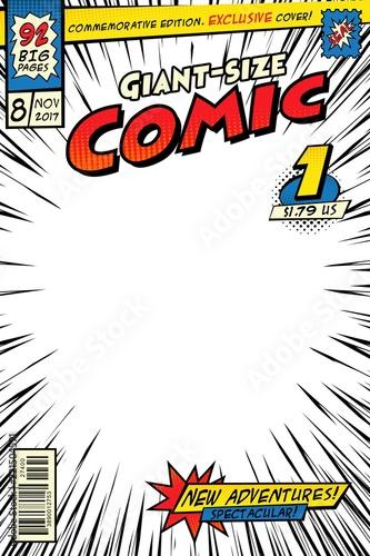 Comic Book Cover Template Art Conceptual