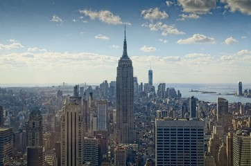 Shot of the EMpire State's surroundings from the Top of the Rock