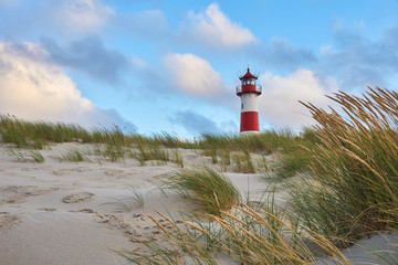 Lighthouse List-Ost on the island Sylt                         Wall mural