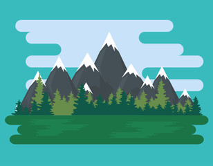 natural landscape scene icon