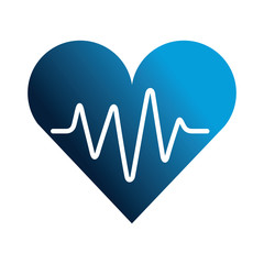 medical heart silhouette isolated icon
