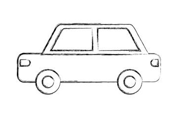 car vehicle transport pictogram isolated image