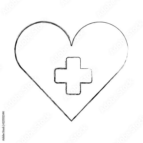 medical heart cross hospital symbol
