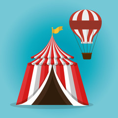 tent circus entertainment icon