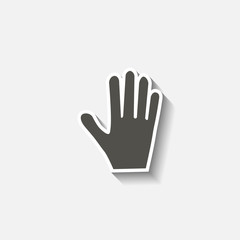 Hand icon with shadow