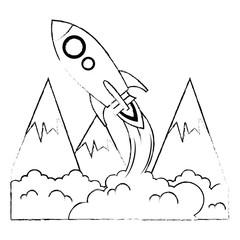 rocket start up with smoke
