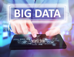 Big Data in Business Concept