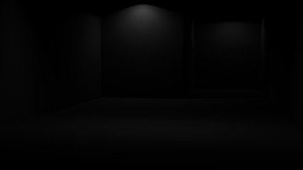dark room empty black  indoor architecture