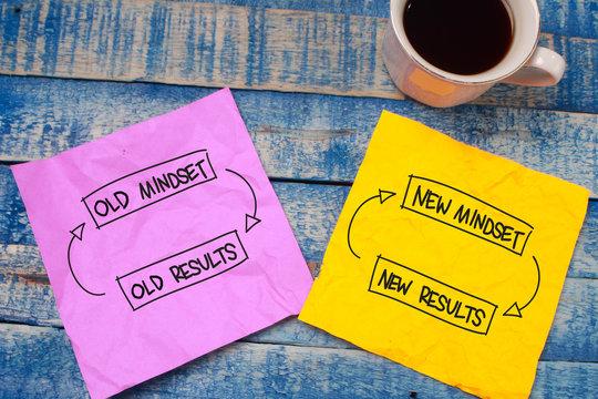 Self Development Motivational Words Quotes Concept, New Mindset Result