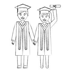couple of graduates avatar character