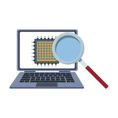 Microchip in laptop