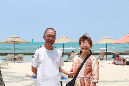 ワイキキビーチ シニア夫婦