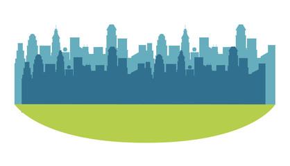Cityscape scenery cartoon