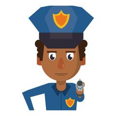 Police profile cartoon