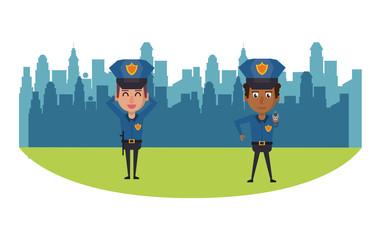 Cops in the city