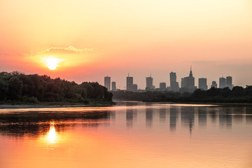 Sunset over Warsaw_1