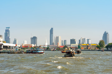 The Chao Phraya is a major river in Thailand. The watercourse meanders through the city