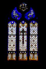 Douarnenez. Vitrail de la chapelle sainte hélène, Bretagne, Finistère