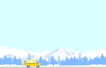 ドライブ 旅行 冬