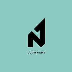 vector logo design N 1 abstract