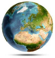 Europe. 3d rendering