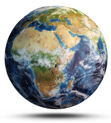 Wall Mural - Planet Earth map. 3d rendering